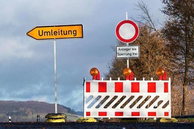 Straße zwischen Schopfheim und Schwörstadt wird ab Dienstag kurzzeitig gesperrt