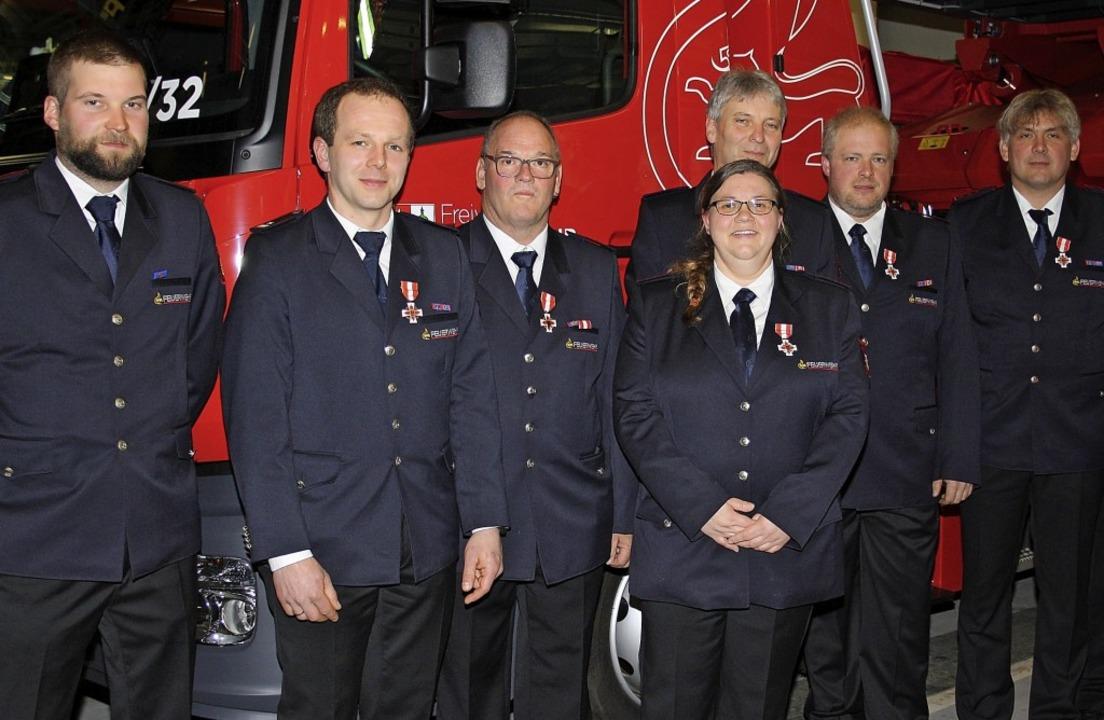 Ehrungen bei der Todtmooser Feuerwehr ...t, Daniel Stoll und , Jörg Zimmermann   | Foto: Böhm