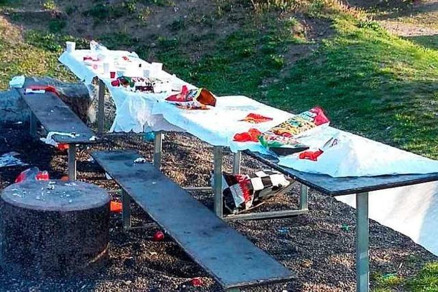 Die Müll-Saison im Dreiländergarten in Weil am Rhein beginnt