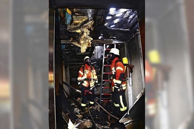Sachschaden nach Brand in Wohnhaus