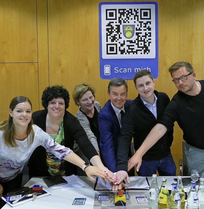 Start frei für die neue Digital-Strate... Kieber, Julian Hanke und  Jan Fischer  | Foto: Hans-Peter Müller