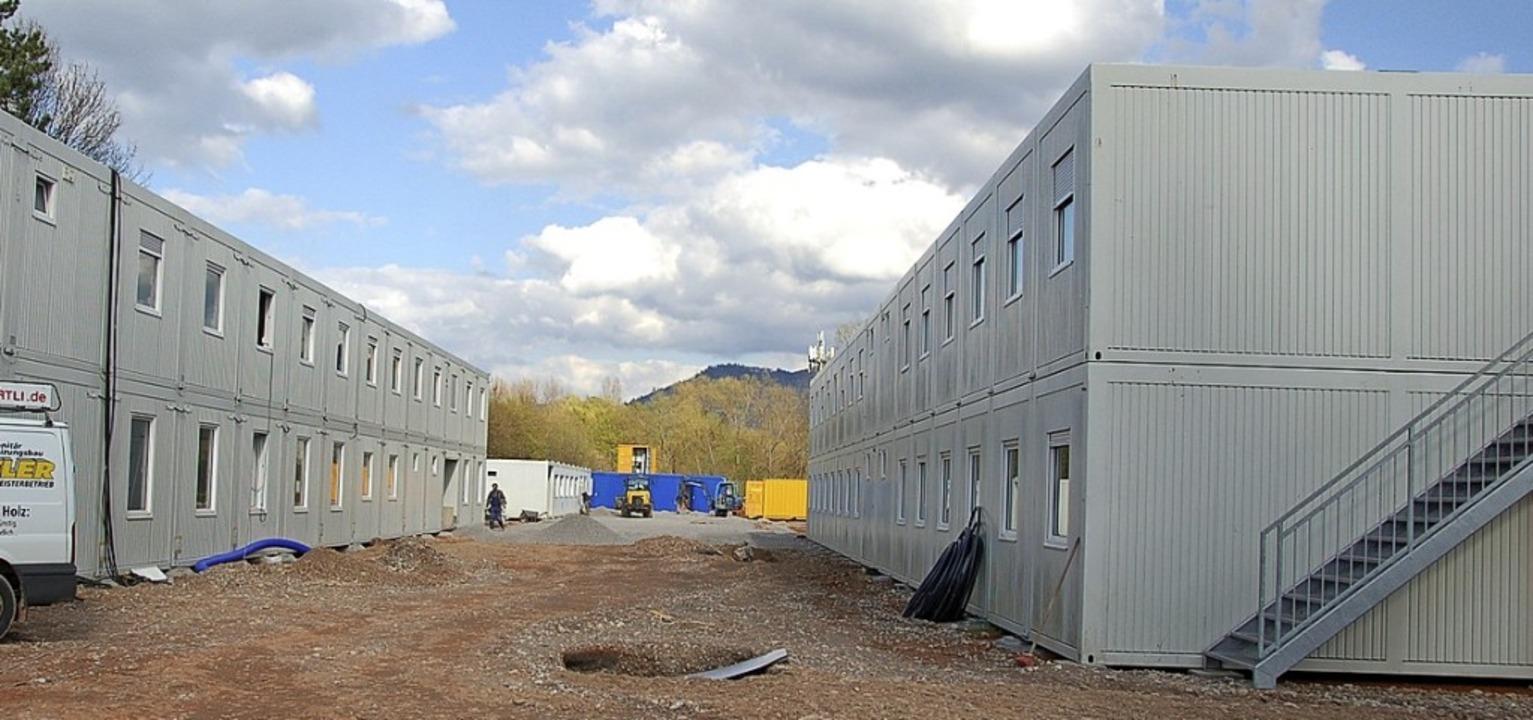 Flüchtlingsunterkunft am Sägeteich in Offenburg   | Foto: Archivfoto: hrö