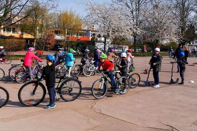 430 Schüler der Goetheschule Rheinfelden sind jetzt Radhelden