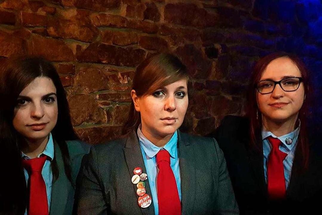 Die Partei zieht mit drei Frauen an de...ersfeld, Sophie Kessl, Rafaela Moser.   | Foto: Die Partei Freiburg
