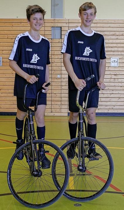 Medaille in der U15 knapp verpasst:  d...Lukas Stocker (links) und Mika Schrott  | Foto: Privat