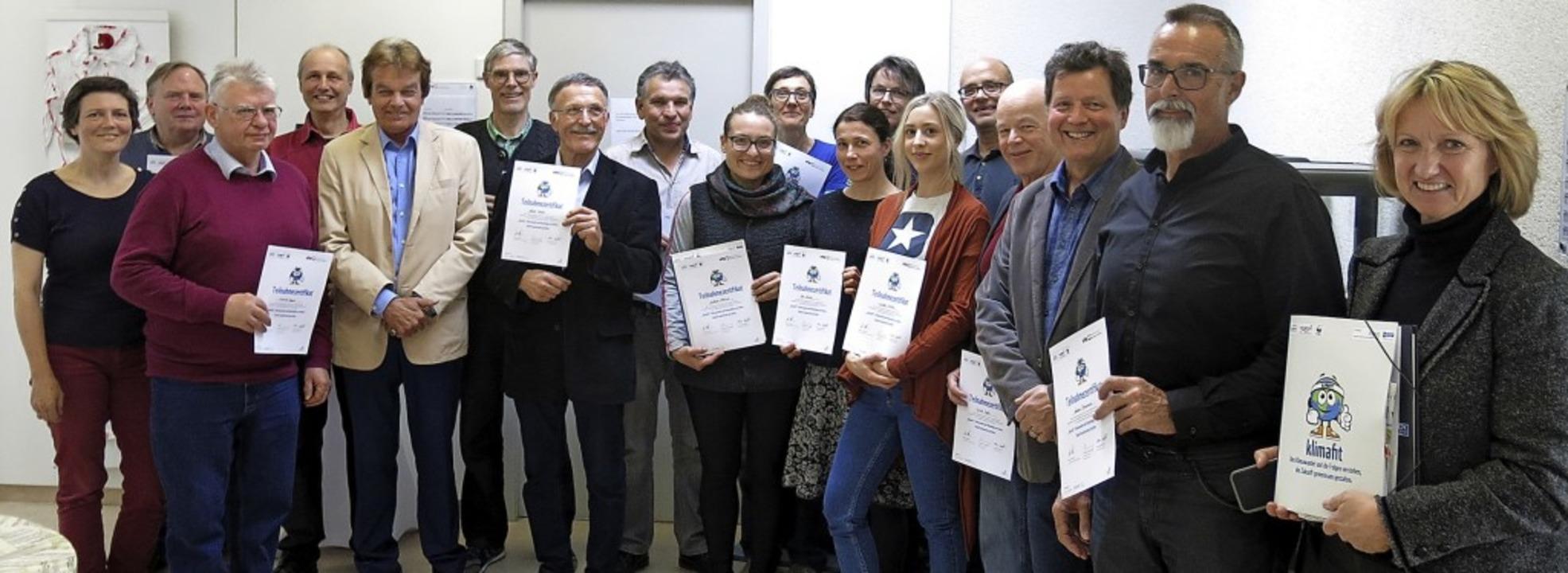 """Zertifikatsverleihung der Multiplikatoren-Ausbildung """"Klimafit""""    Foto: Georg Voß"""