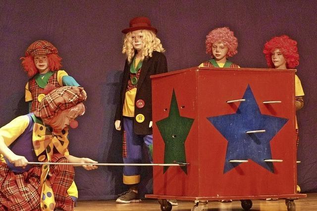Akrobaten, Clowns und Seifenblasen