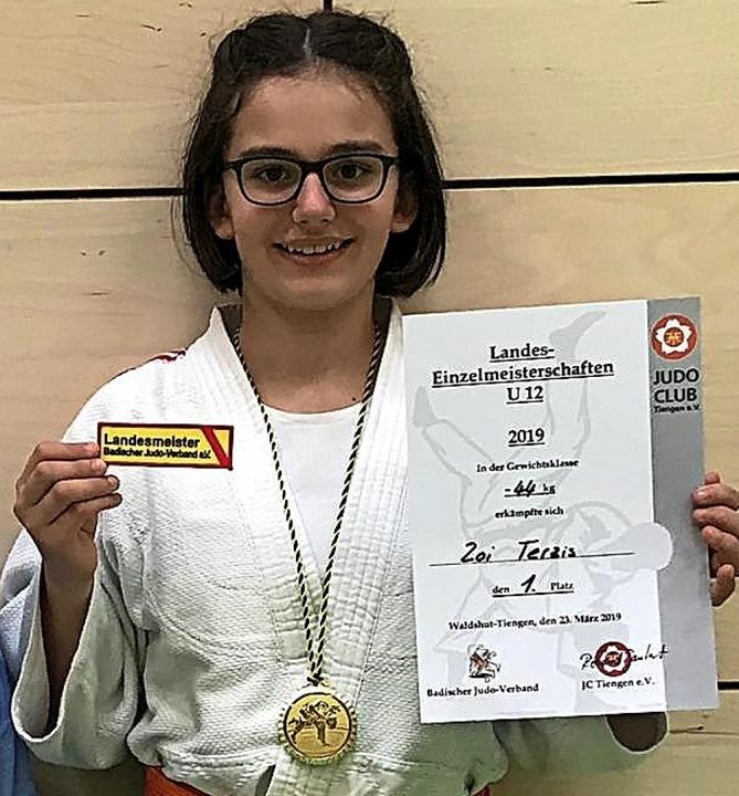 <BZ-FotoAnlauf>Judo-Club Hausen: </BZ-...nlauf>Zoi Terzis ist Landesmeisterin.   | Foto: Judo-Club