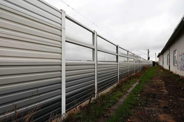 Lärmschutzwand an der Bahn in Friesenheim kommt im Herbst