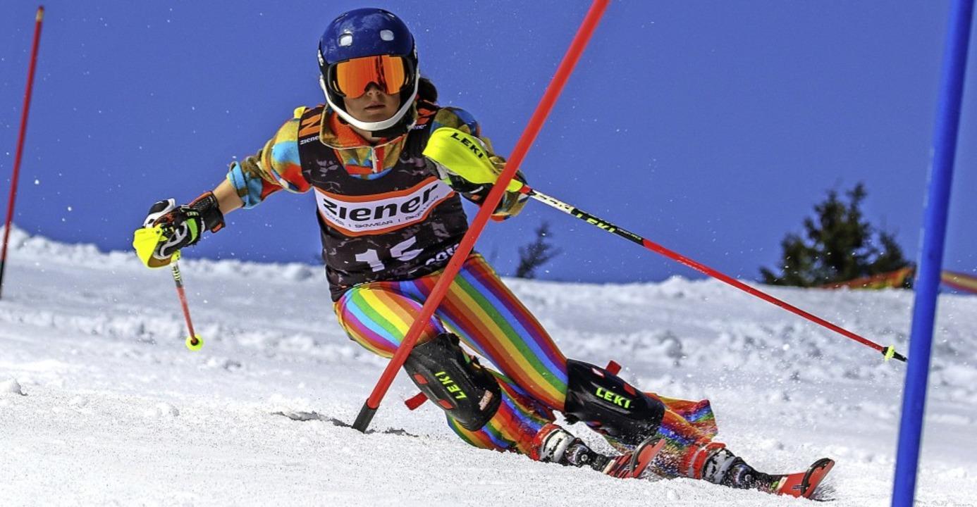 Ronja Wiesler bringt auf der Piste Far...nziert die Konkurrenz im Schwarzwald.   | Foto: Siegmund