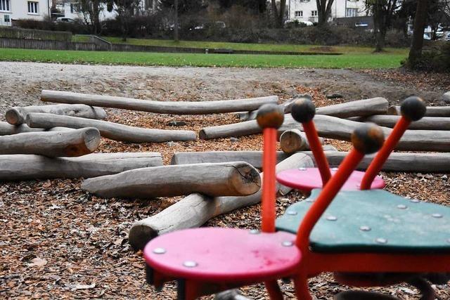 Die Neugestaltung des Spielplatzes im Lörracher Rosenfelspark beginnt