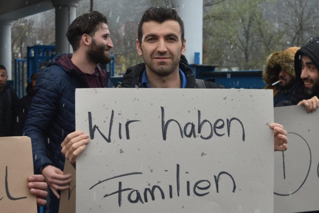 Protest gegen die Schließung der Lauffenmühle    Foto: MANFRED HUEFNER