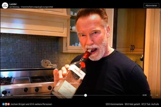 Schwarzenegger macht Aprilscherz mit Kirschwasser aus Staufen