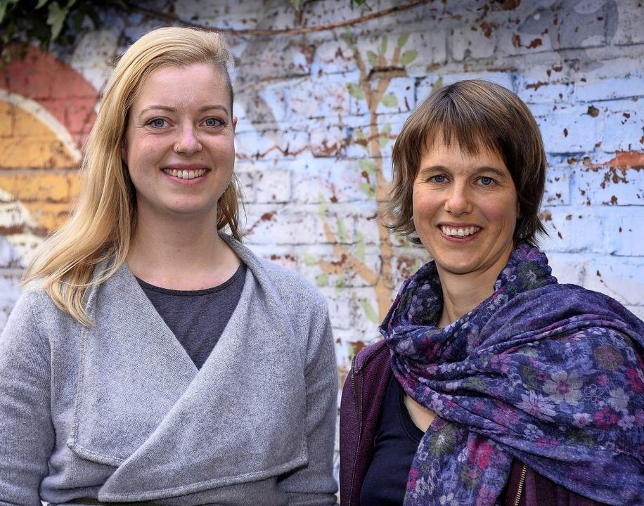 Maike Mohnke (links) und Nina Kuhn sin...anisatorinnen des Mädchenaktionstags.   | Foto: Thomas Kunz