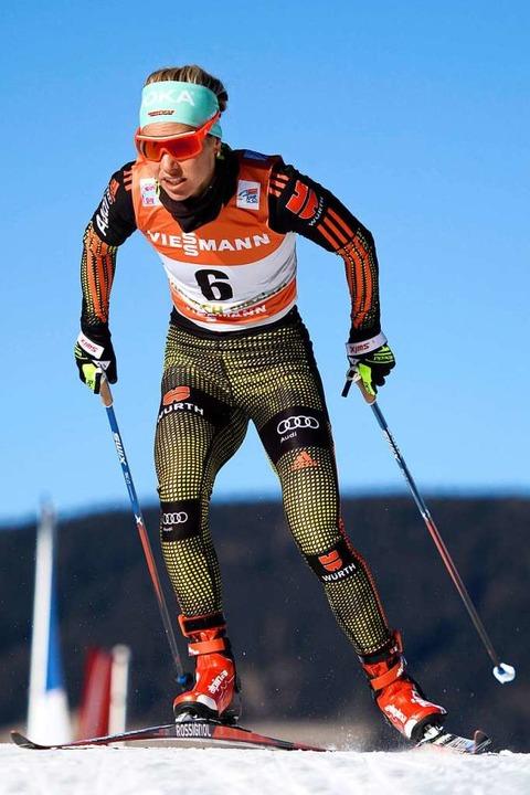 Stefanie Böhler war – bis auf di...8211; stets bei der Tour de Ski dabei.  | Foto: dpa