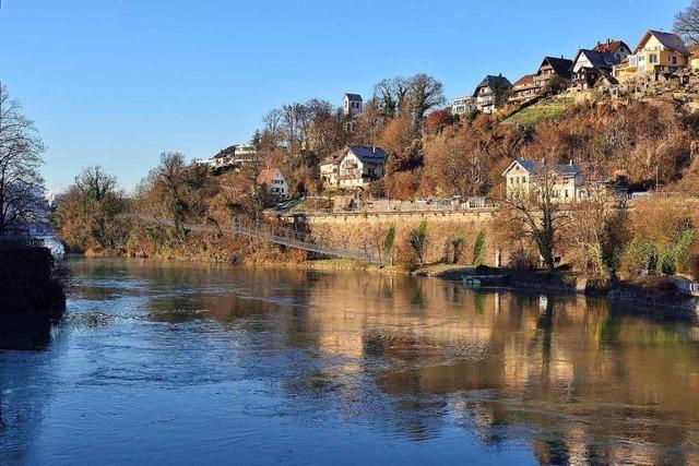 Die Laufenburger Acht quert als Rundwanderweg dreimal den Rhein