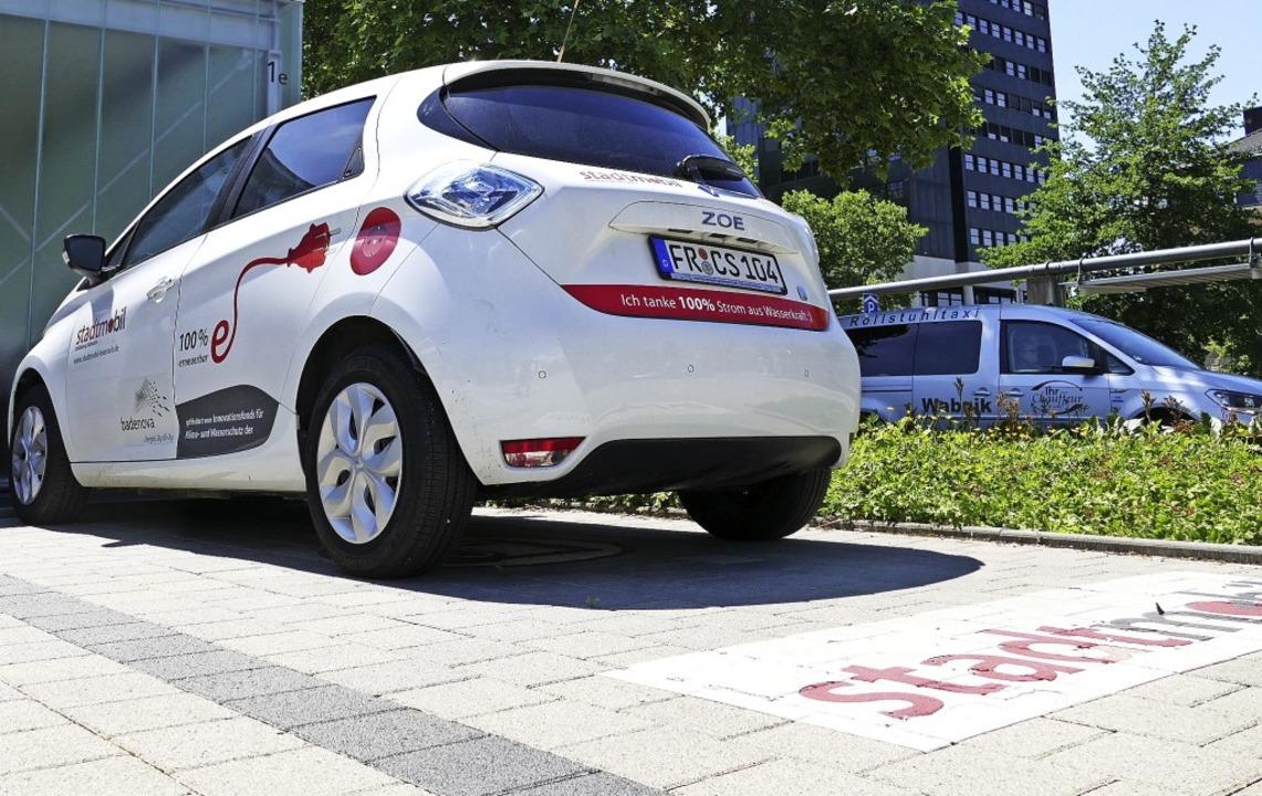 So sieht ein Renault Zoe aus, wie er k...Hugstetten zur Verfügung stehen soll.     Foto: Peter Gerik