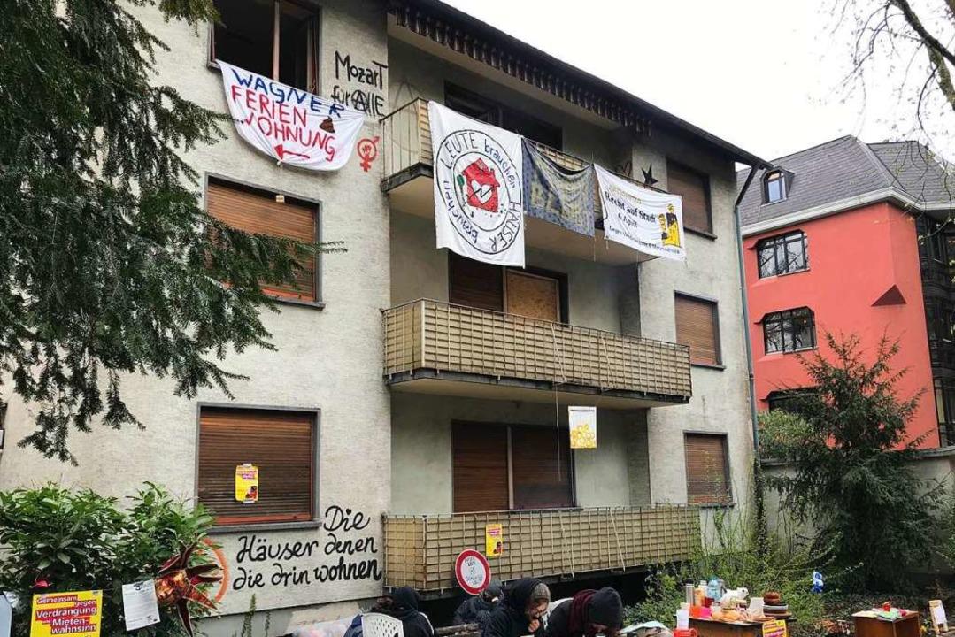 Für 24 Stunden war das Haus an der Mozartstraße seit Donnerstag besetzt.   | Foto: Bernhard Amelung