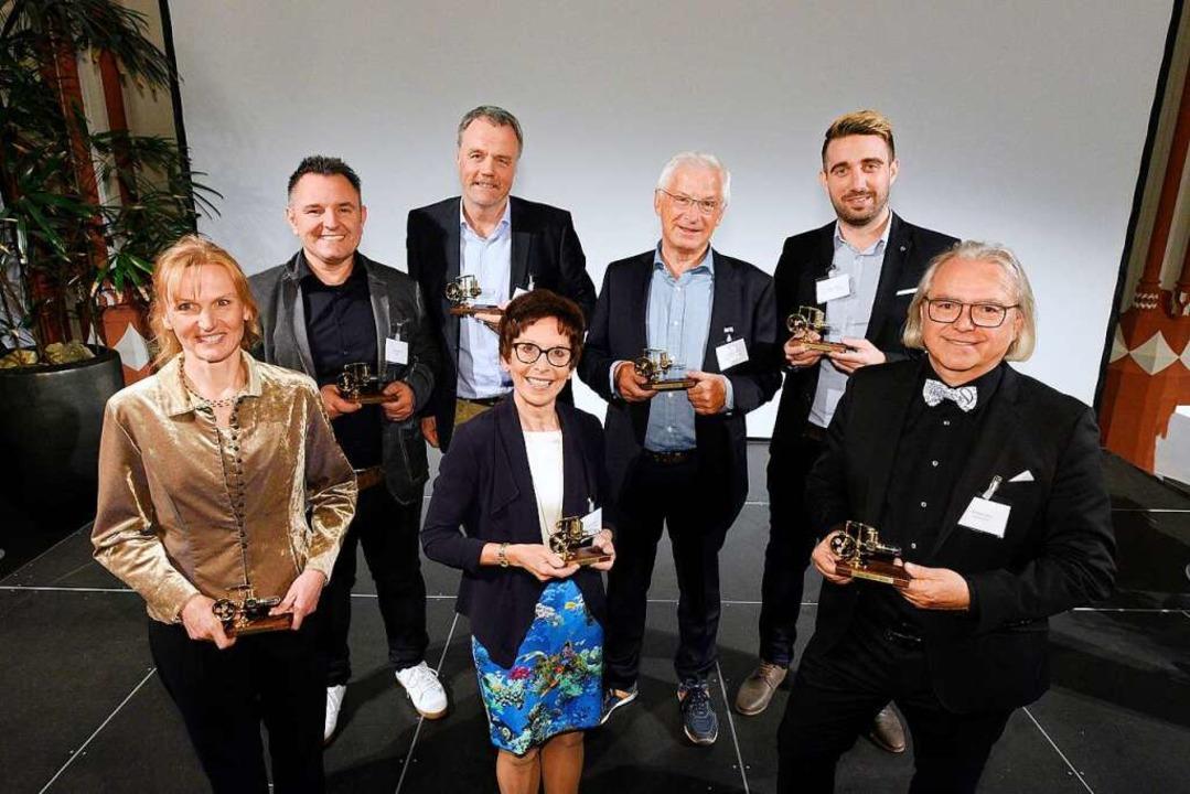 Die Preisträger des Jobmotors 2018 &#8...; Stoll Architekten & Stadtplaner)    Foto: Thomas Kunz