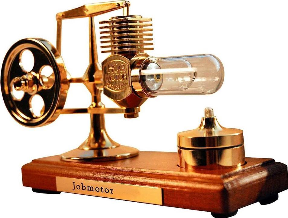 Der Preis für die Sieger: Das Modell eines Stirling-Motors.    Foto: Reck,Lucia