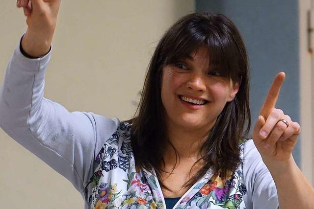 Céline Pellmont, Dirigentin des Musikvereins Herten, bewahrt ihre Neugier auf Musik
