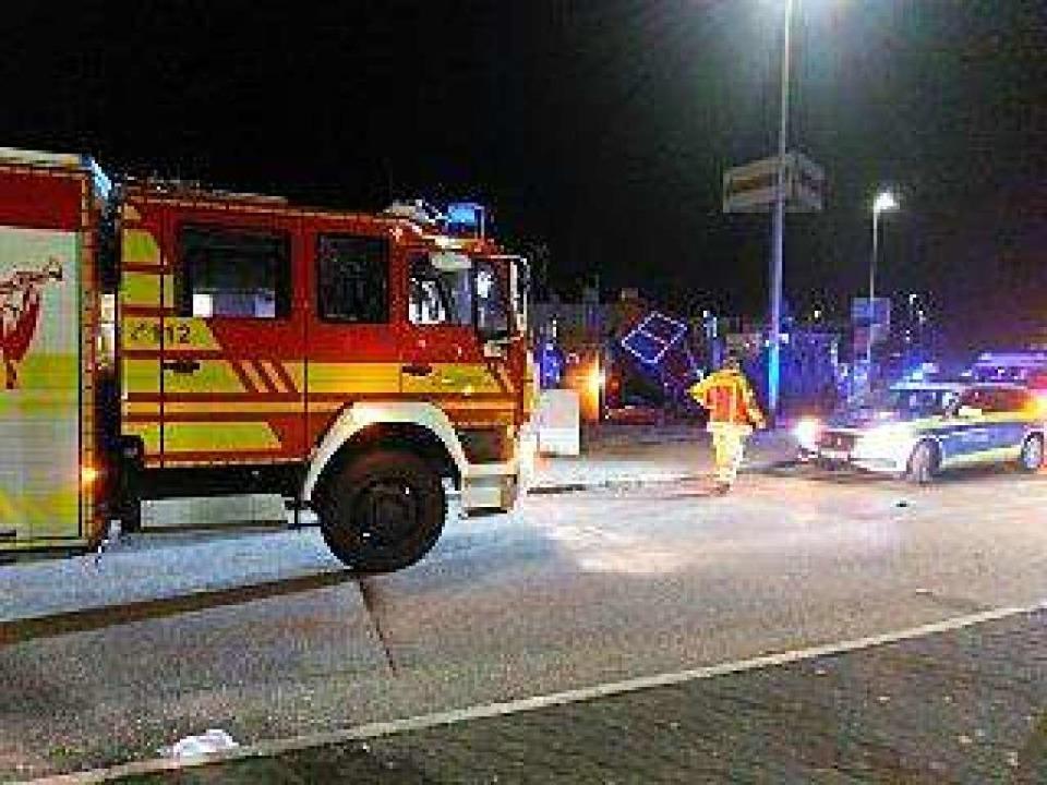 Feuerwehr und Polizei waren in Bad Säckingen im Einsatz.    Foto: Feuerwehr Bad Säckingen