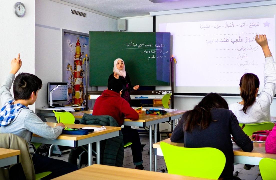 Arabischunterricht in Emmendingen: Ent...rn den Wortschatz und korrekte Sätze.   | Foto:  usk