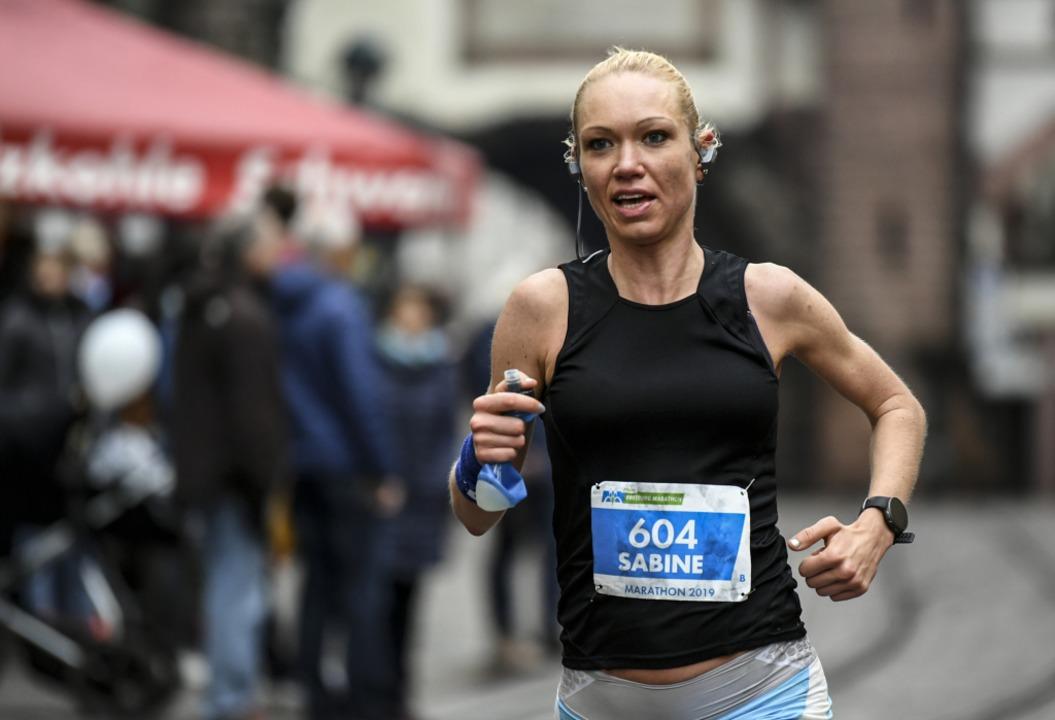 Sabine Schmey gewann den Marathon der Frauen.  | Foto: Patrick Seeger