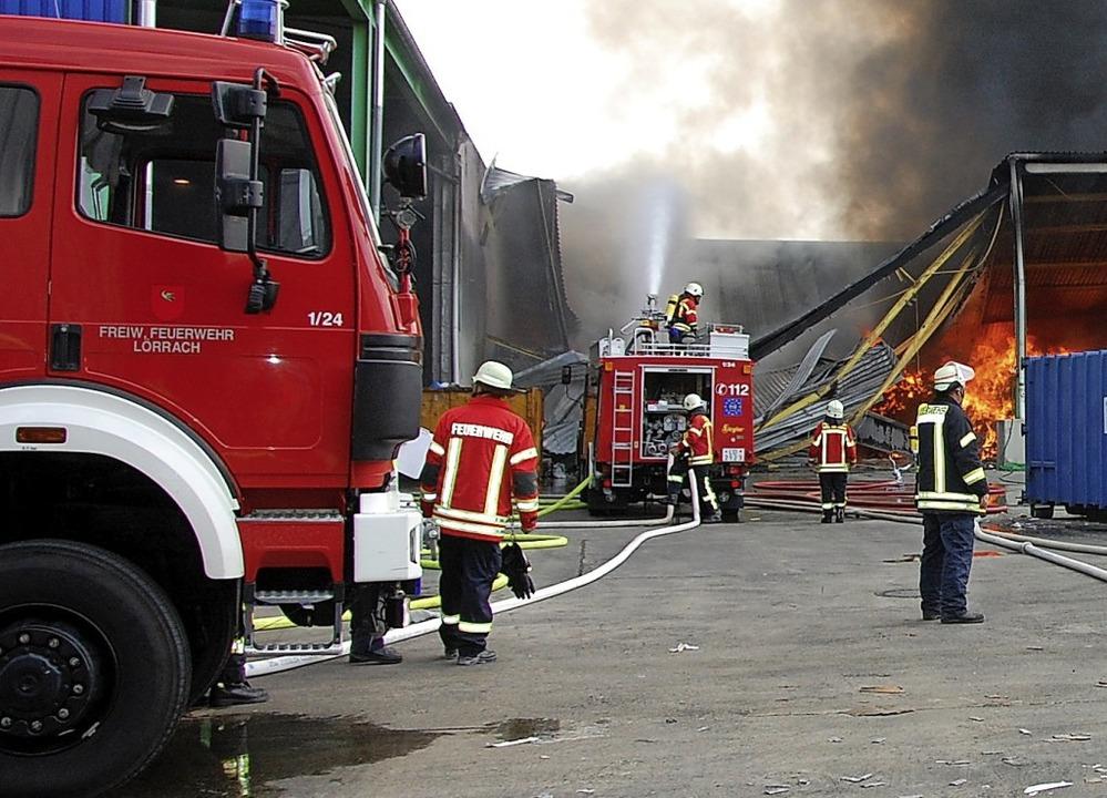 Der Brand bei  Kühl war einer der größten Einsätze im Jahr 2018     Foto: Frey