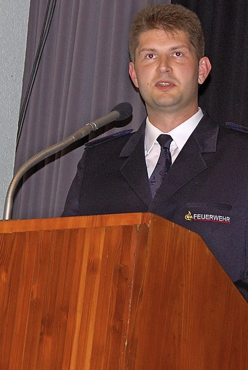 Kommandant Philipp Haberstroh    Foto: Herbert Frey