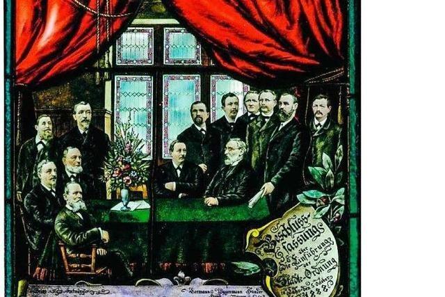 Die Geschichte der neun Glasfenster im Alten Rathaus