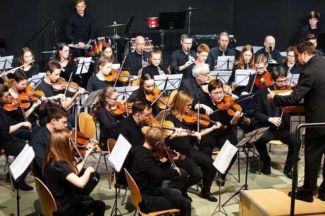 Das Projektorchester der Musikschule Rheinfelden bot großes Kino für die Ohren