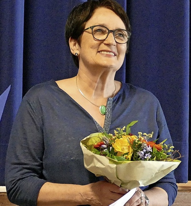Friederike Fünfgeld, Leiterin des Schü...aterstück rund um Max und Moritz auf.   | Foto: Hunn/Bachmann-Goronzy