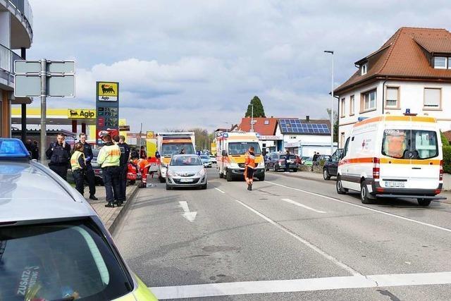 Medizinisches Problem wohl Ursache für Verkehrsunfall mit vier Verletzten