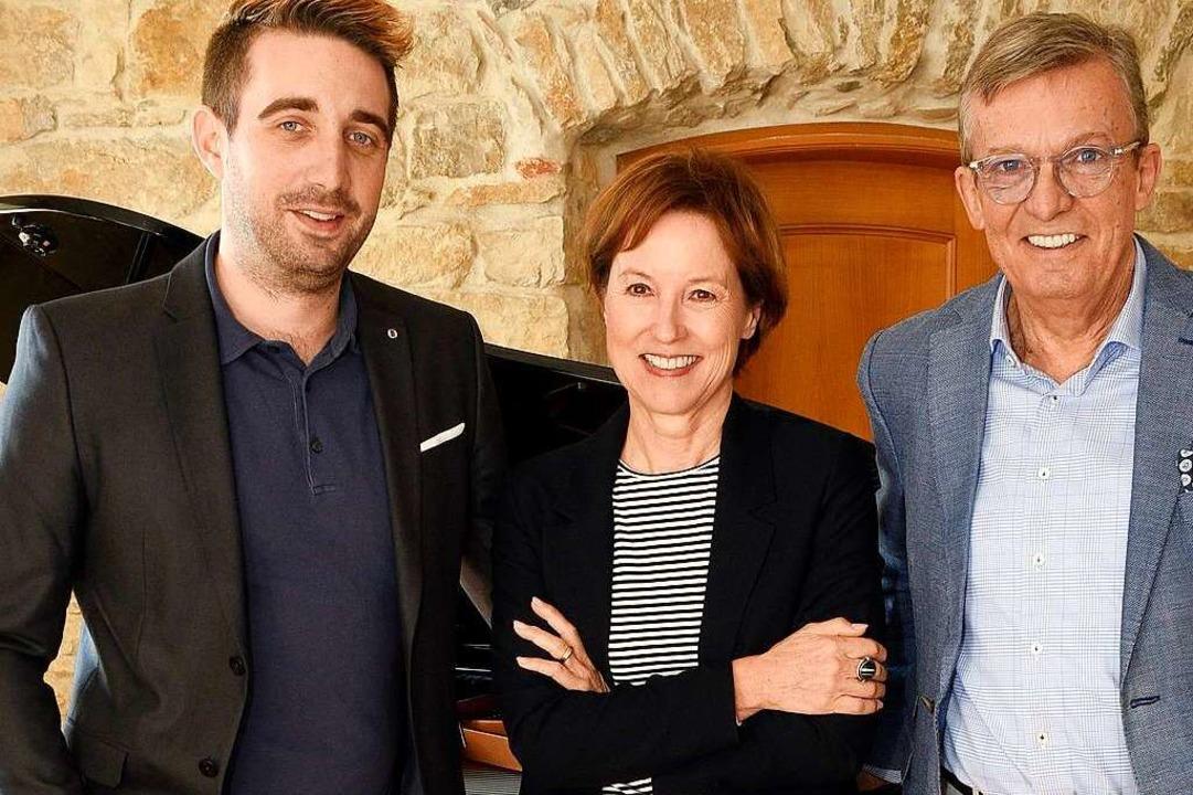 Die Familie Mack (von links): Fabrice Mack, Ursula Mack und Heinrich Mack    Foto: Thomas Kunz