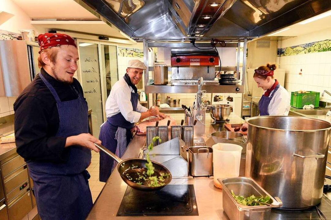 Wo gutes Essen zubereitet wird: die Küche der Alten Post    Foto: Thomas Kunz