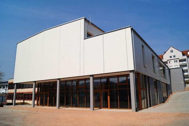 Die neue Sporthalle für das Schulzentrum ist bald fertig