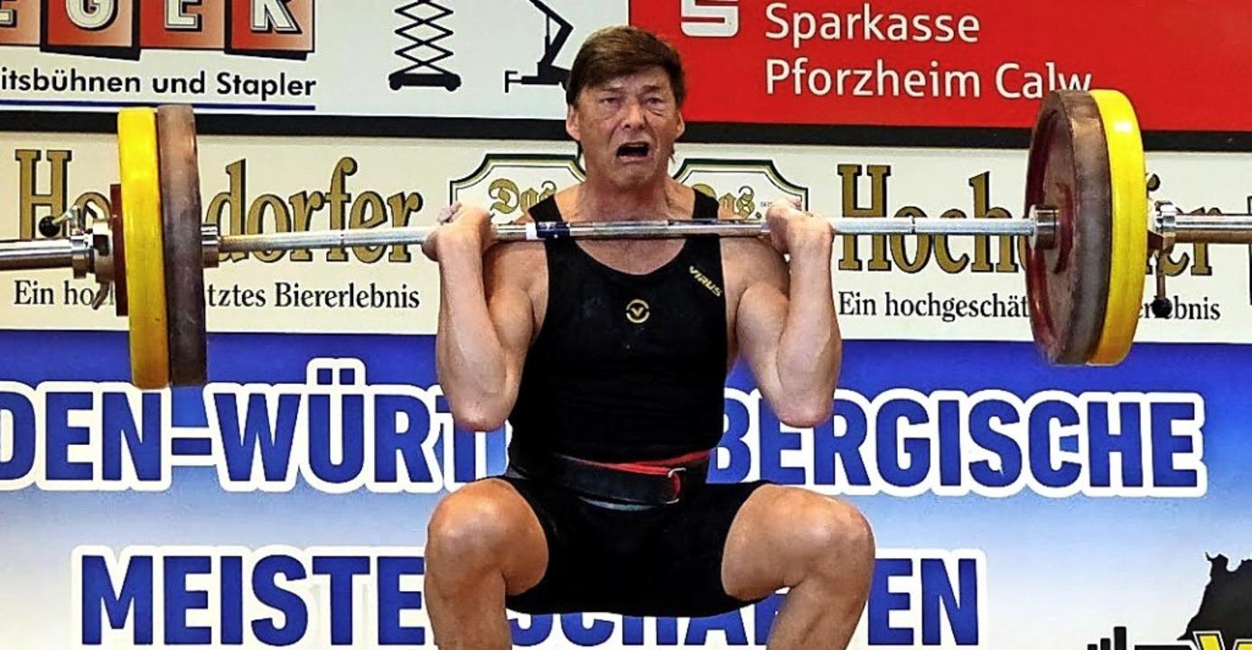 Gelungener Kraftakt: Peter Simon von d... herausragende Heber der Titelkämpfe.   | Foto: weisser