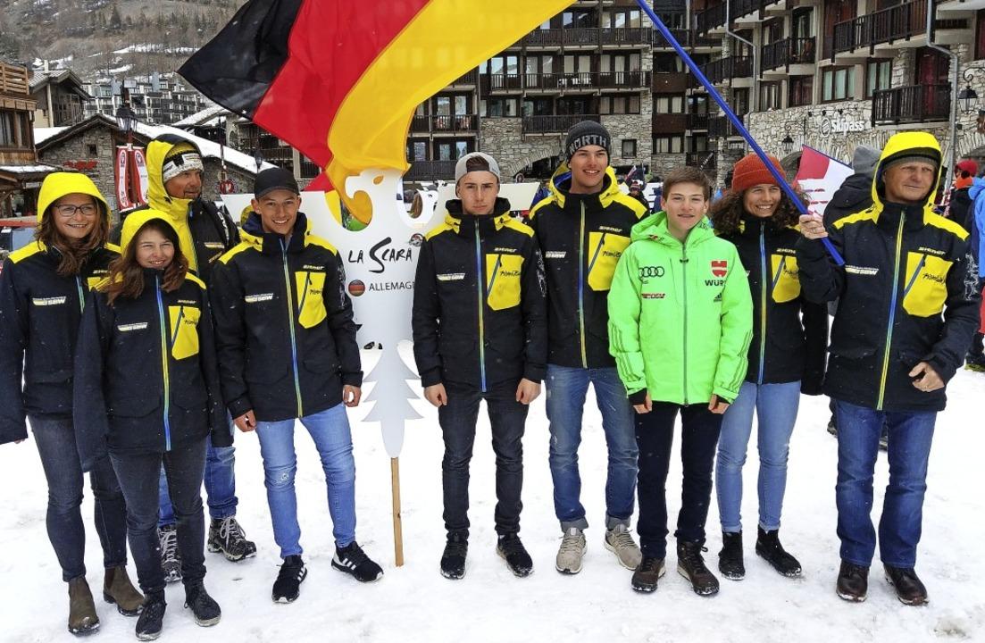 Das Team der Skiverbände Baden-Württem...iesler  und Landestrainer Klaus Ammon     Foto: Martin Siegmund