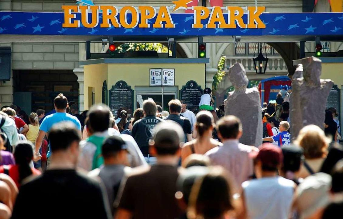 Der Eingangsbereich des Europa-Parks  | Foto: dpa
