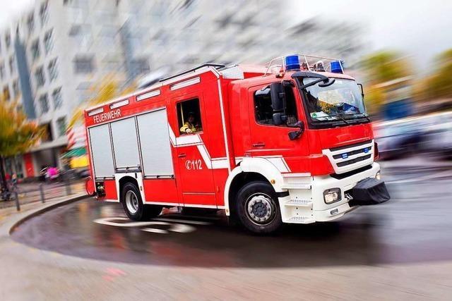 Feuer in Freiburg-St. Georgen mit mehreren leicht verletzten Personen