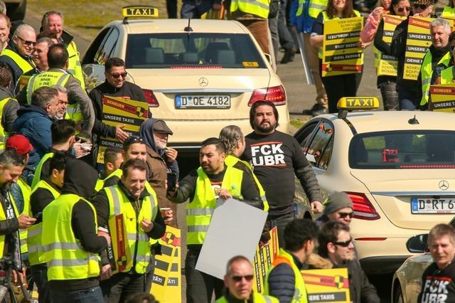 Protest gegen Uber und Co.