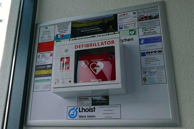 Das Defibrillatoren-Sponsoring stößt auf Kritik im Gewerbeverein Efringen-Kirchen