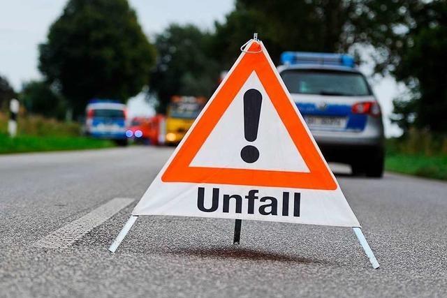 Grenzach-Wyhlen: Lkw beschädigt Laterne