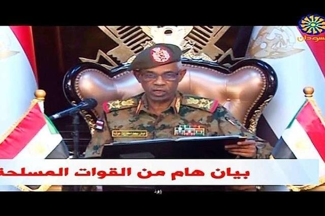 Verteidigungsminister: Streitkräfte übernehmen Macht im Sudan