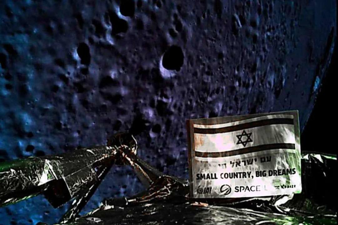 Eines der letzten Fotos von der Mondob... Sonde vor ihrem Crash geschossen hat.  | Foto: AFP