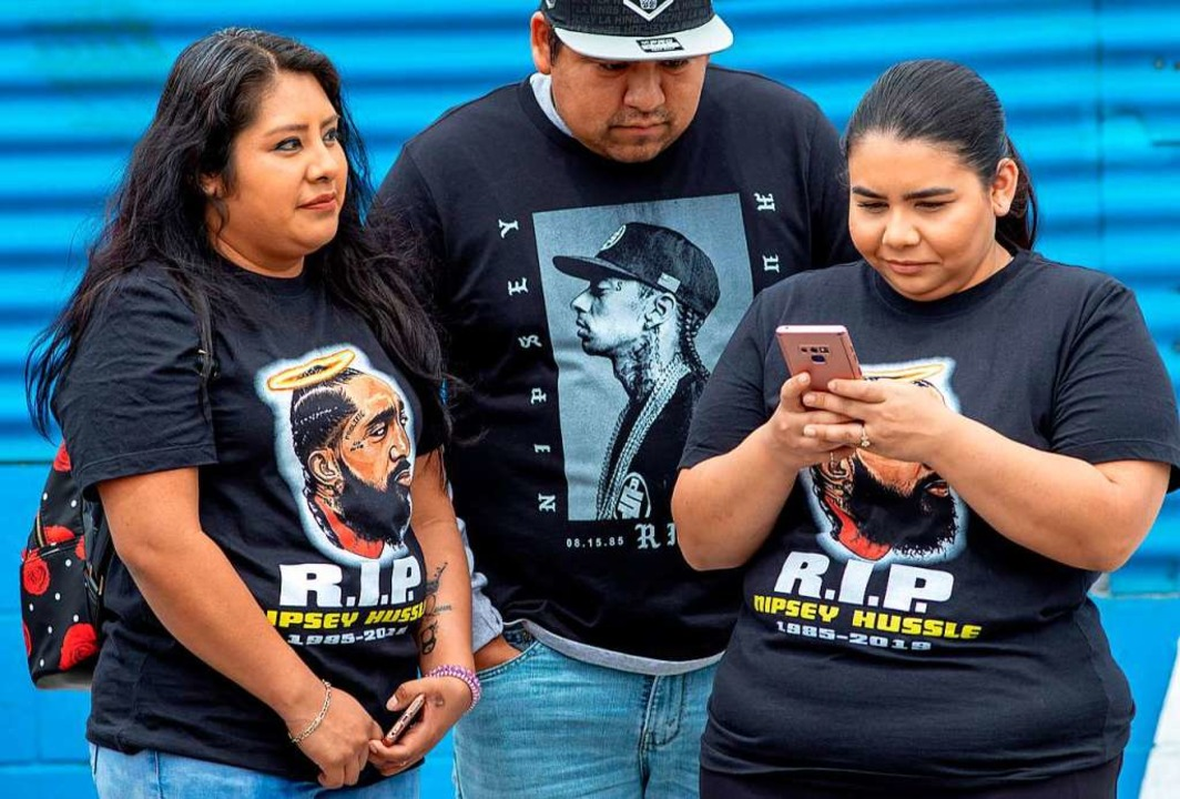 Tausende bei Trauerfeier für erschossenen Rapper Nipsey Hussle  | Foto: AFP