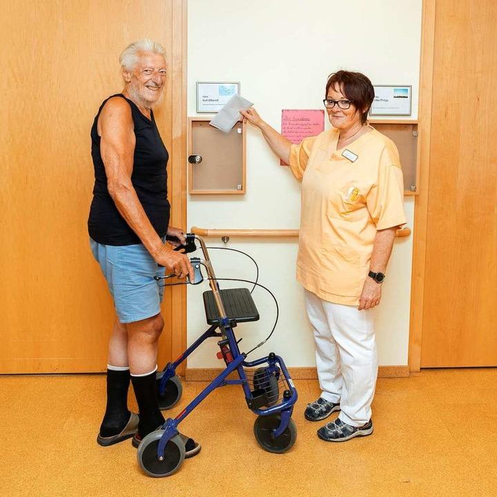 Die  Erfahrung und das Wissen von Seni...: Karl Oßwald und Michaela Leimgruber.  | Foto: Seniorenzentrum Zell