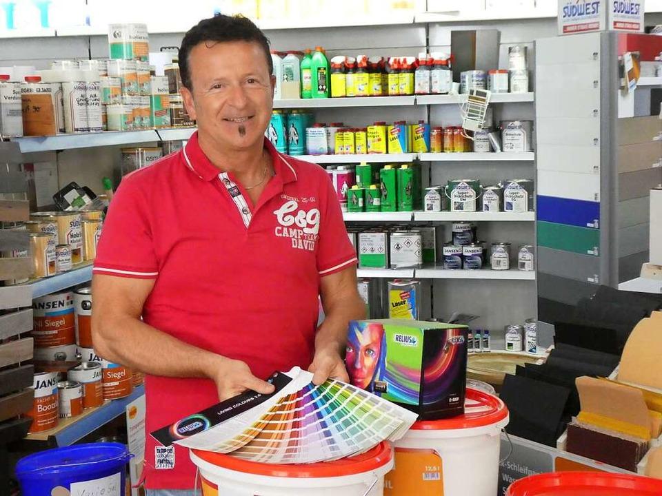Frank Kiss führt das Farbenfachgeschäft seit fast 20 Jahren.  | Foto: Farben Thon