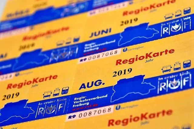 Die Regiokarte wird ab August zwei Euro teurer